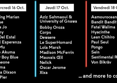 16 additionnal artists!