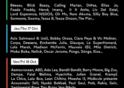 28 artists join the line-up